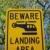 вертолета · дорожный · знак · желтый · предупреждение · посадка · пространстве - Сток-фото © luapvision