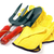 gardening trowel fork and gloves  stock photo © luapvision