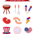 set of patriotic icons independence day of america july 4th collection of design elements isolated stock photo © lucia_fox