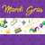 mardi gras poster with mask beads trumpet drum fleur de lis jester hat masks comedy and drama stock photo © lucia_fox