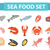 seafood icons set vector flat style sea food collection isolated on white background fish product stock photo © lucia_fox