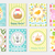 happy easter greeting card collection flyer poster spring cute set of templates for your design stock photo © lucia_fox
