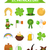 st patricks day icon set design element traditional irish symbols in modern flat style isolated o stock photo © lucia_fox