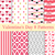 valentines day seamless pattern set hearts endless background texture collection of paper the ve stock photo © lucia_fox
