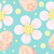 cute easter seamless pattern with eggs and flowers endless spring background texture digital pape stock photo © lucia_fox