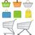 compras · vetor · moderno · projeto · conjunto - foto stock © lucia_fox