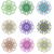 gekleurd · edelstenen · ingesteld · cirkel · geïsoleerd · witte - stockfoto © lucia_fox