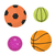 balls set icons flat cartoon style collection of football basketball tennis isolated on white stock photo © lucia_fox