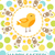 happy easter greeting card flyer poster with yellow chick spring cute template for your design v stock photo © lucia_fox