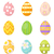 easter eggs set of icons design elements isolated on white background vector illustration stock photo © lucia_fox