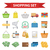 shopping icon set flat style shop icons collection isolated on white background store objects and stock photo © lucia_fox