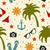 zomer · mariene · iconen · icon · vis · oceaan - stockfoto © lucia_fox