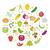 vector · vruchten · groenten · appels · druiven - stockfoto © lucia_fox
