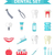 dental icon set flat style stomatology kit isolated on white backgrounddentistry collection of de stock photo © lucia_fox