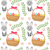 easter seamless pattern with eggs basket and rabbit endless spring background texture digital pap stock photo © lucia_fox