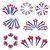 fireworks salute in traditional colors usa set of elements for your design americas independence stock photo © lucia_fox