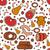 comida · salsicha · presunto · bife · ovos · mexidos - foto stock © lucia_fox