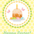 happy easter greeting card flyer poster with easter cake and eggs spring cute template for your d stock photo © lucia_fox