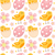 Cute Easter seamless pattern with birds and eggs. Endless Spring background, texture, digital paper. stock photo © lucia_fox