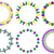 mardi gras frame set cute round border with space for text isolated on white background vector il stock photo © lucia_fox