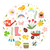 spring icons set in round shape flat style gardening cute collection of design elements isolated stock photo © lucia_fox