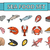 sea food icons set vector modern line doodle style seafood collection isolated on white backgrou stock photo © lucia_fox