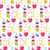 cute seamless pattern valentines day with flowers bow cupid love potion romance endless backgroun stock photo © lucia_fox