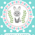 happy easter greeting card flyer poster with rabbit bunny spring cute template for your design stock photo © lucia_fox