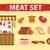 carne · vetor · salsichas · fresco · ícone · jantar - foto stock © lucia_fox