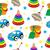 baby toys seamless texture children s wallpaper background vector illustration stock photo © lucia_fox