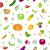 sem · costura · frutas · papel · verão · grupo - foto stock © lucia_fox