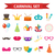 party icons design element flat style carnival accessories props isolated on white background stock photo © lucia_fox