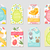 cute easter tags set labels collection with rabbit eggs and flowers spring templates for your de stock photo © lucia_fox