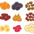 dried fruits set flat style raisins apricots prunes isolated on a white background vector illu stock photo © lucia_fox