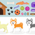 dogs stuff icon set with accessories for pets flat style isolated on white background domestic an stock photo © lucia_fox