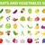 conjunto · legumes · frescos · pimenta · alho · pimenta - foto stock © lucia_fox