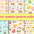 cute easter seamless pattern collection with birds and eggs endless spring background texture dig stock photo © lucia_fox