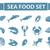 sea food icons set vector silhouette shadow style seafood collection isolated on white background stock photo © lucia_fox