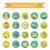 renkli · ayarlamak · simgeler · web · tasarım · elemanları · vektör - stok fotoğraf © lucia_fox