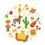 México · ícones · ilustração · estilizado · festa - foto stock © lucia_fox