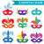 masquerade mask set flat style carnival collection isolated on white background party vector ill stock photo © lucia_fox