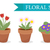 flower pot with different flowers set flat style flowerpot collection isolated on white background stock photo © lucia_fox