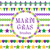 mardi gras borders set cute beads fleur de lis ornaments garland isolated on white background stock photo © lucia_fox