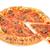 bütün · pepperoni · pizza · yalıtılmış · beyaz - stok fotoğraf © lucielang