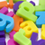 background of colourful magnetic letters stock photo © lucielang
