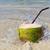 kokosnoot · stro · zomer · strand · vruchten - stockfoto © luckyraccoon