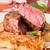 ternera · filete · salsa · patatas · alimentos · madera - foto stock © luckyraccoon