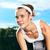 portrait of beautiful woman ready to start running stock photo © luckyraccoon