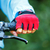 closeup of hands in red protective gloves holding handlebar stock photo © luckyraccoon