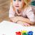 artista · scuola · bambina · pittura · ritratto · pennello - foto d'archivio © luckyraccoon
